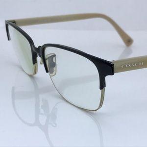 Coach Women Eyeglasses Frame Satin Black/Ivory Hor